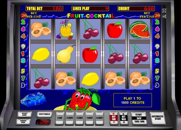 Игровой автомат Fruit Cocktail - замечательные призы и выигрыши в Вулкан Платинум казино