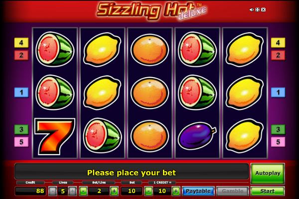Игровой автомат Sizzling Hot Deluxe - золотые фрукты для игроков казино Вулкан