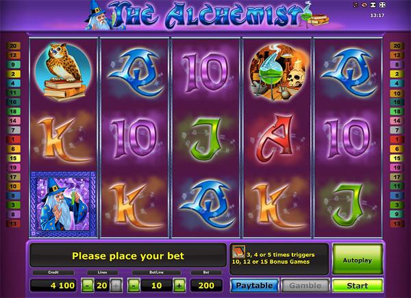 Игровой автомат The Alchemist - для истинных алхимиков